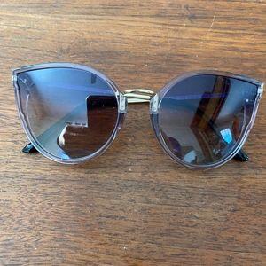Purple oversize polarized cat eye sunglasses